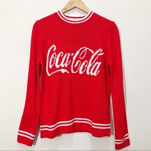 NWOT Coca Cola white Red Knitted Sweater